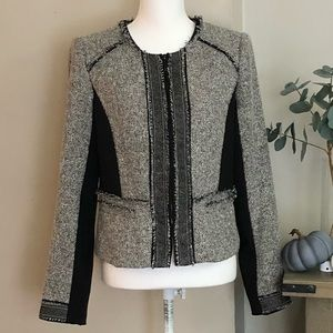 WHBM frayed trim blazer